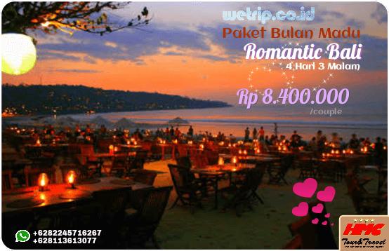 Paket Bulan Madu Bali Romantis 4 Hari 3 Malam