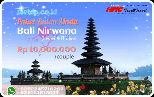 Paket Bulan Madu Bali Nirwana 5 Hari 4 Malam