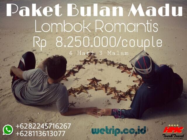 Paket Bulan Madu Lombok 4 Hari 3 Malam