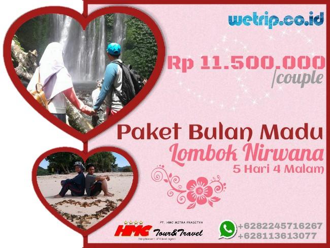 Paket Bulan Madu Lombok Nirwana 5 Hari 4 Malam