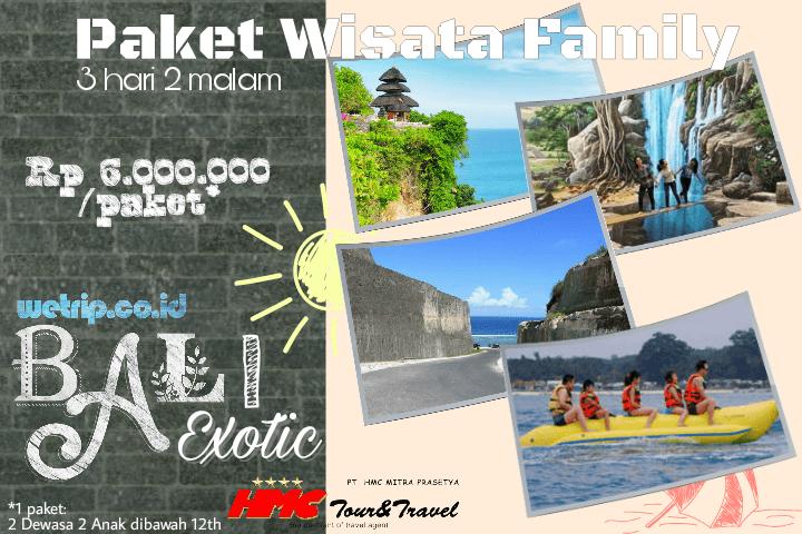 Paket Wisata Keluarga Bali 3 Hari 2 Malam