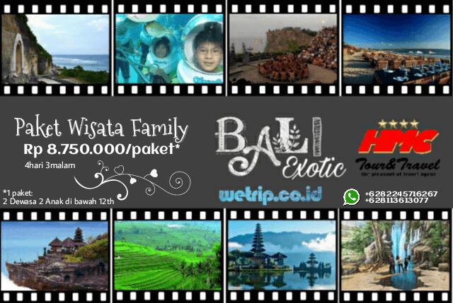 Paket Wisata Keluarga Bali 4 Hari 3 Malam