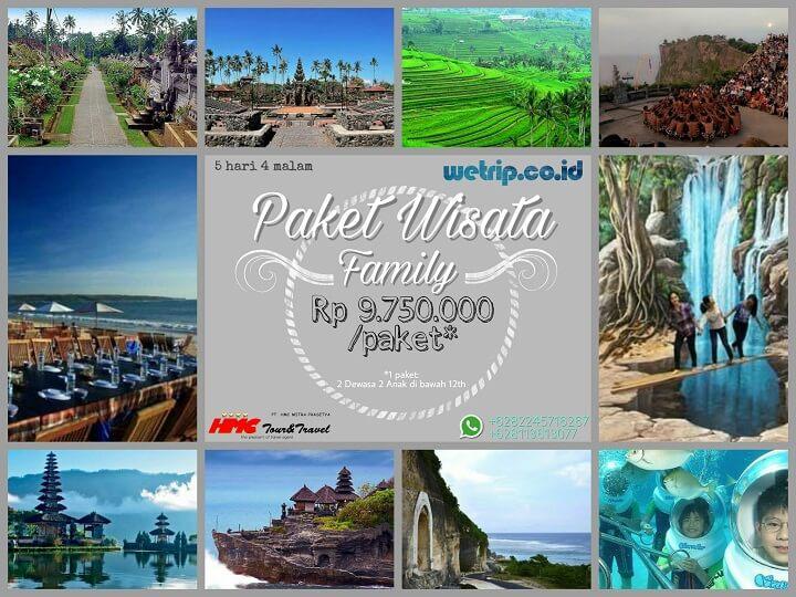 Paket Wisata Keluarga Bali 5 Hari 4 Malam