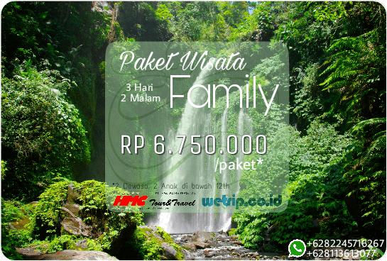 Paket Wisata Keluarga Lombok 3 Hari 2 Malam
