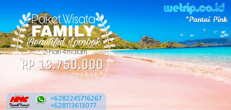 Paket Wisata Keluarga Lombok 5 Hari 4 Malam